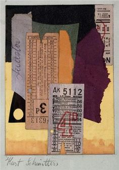Kurt Schwitters,1887 - 1948, Collage and watercolor: