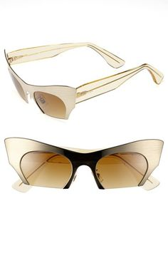 I say yes to the cat eyes :) These are bad the the bone! Miu Miu 49mm Cat Eye Sunglasses available at #Nordstrom