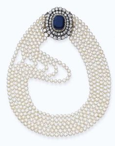 Pearl Necklace 1890s Christie