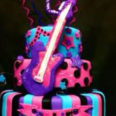Carlee wants this cake for her rock star birthday party.