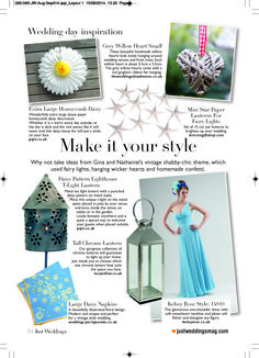 Beautifully featured items in Just Wedding Magazine #justweddingsmag