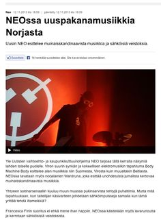 """images from Dimanche Rouge Festival in Helsinki on the tv program NEO, with moments of my performance """"Fair and Lost"""" (at minute 15:40) http://yle.fi/uutiset/neossa_uuspakanamusiikkia_norjasta/6930733"""