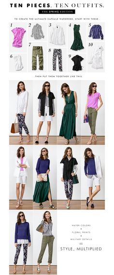 Banana Republic – 10 Pieces 10 Outfits
