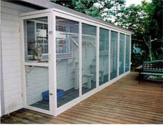 cat run catio: Cat Enclosure, Catio Cat, Outdoors Cats, Cats Catio, Cat House, Outdoor Cat Run, Animal, Indoor Cats