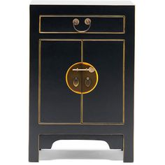 Baumhaus The Nine Schools Qing Chinese Black and Gilt Small Cabinet - CFS Furniture UK Oak Furniture House, Lacquer Furniture, Painted Furniture, Bedroom Furniture, Black Bedside Cabinets, Black Cabinets, Chinese Furniture, Oriental Furniture, Chinese Cabinet