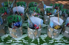Army party - goodie bags