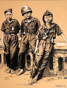 Corea - De Gonzalo Obes - Tinta china y gouache blanco sobre papel de color (1998) - http://obes.es