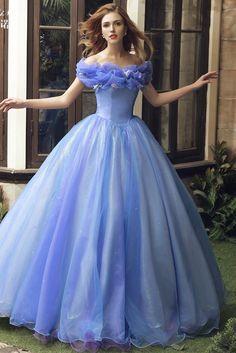 2015 NEW Movie Sandy Princess Cinderella Princess Dress Cosplay Costume Adult Quince Dresses, Ball Dresses, Ball Gowns, Blue Wedding Dresses, Bridal Dresses, Gown Wedding, Beautiful Gowns, Beautiful Outfits, Robes Disney