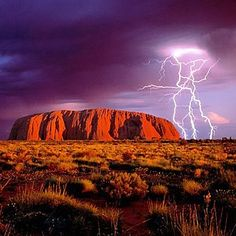 Uluru (Ayres Rock) - a sacred place for Australian aboriginal people. Located in the Outback.