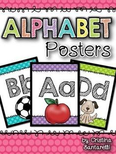 Alphabet Posters includes 33 alphabet posters to display in your Letter Activities, Vocabulary Activities, Infant Activities, Kindergarten Activities, Preschool, Alphabet Charts, Alphabet Posters, Alphabet Wall, Tree Life Cycle