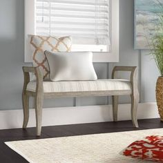 Damari Wicker and Wood Bench Storage Bench With Cushion, Bench With Shoe Storage, Upholstered Storage Bench, Wood Bedroom, Formal Living Rooms, Brown And Grey, Upholstery, Furniture, Corner Bench