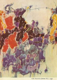 Sam Francis - Soft but bright Action Painting, Painting & Drawing, Post Painterly Abstraction, Found Art, Abstract Expressionism, Abstract Art, Sam Francis, Lovers Art, Painting Inspiration