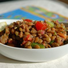 """Refreshing Lentil Salad 