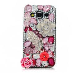 Galaxy Core Prime Case, Mavis's Diary 3D Handmade Bling Crystal Pink... ($9.99) ❤ liked on Polyvore featuring accessories, tech accessories, samsung, flower crown and crystal crown