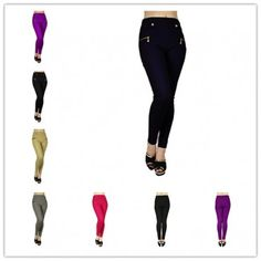 wholesale 12 pieces women 4 pockets slimming jeggings style 3 assorted colors