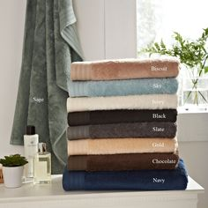 A combination of beechwood and cotton fibres resulting in a silky smooth and soft luxurious towel that is one of our best sellers. King of Cotton. The best towels money can buy. Luxury Towels, Cotton Towels, Slate, Bathroom, Color, Towels, Washroom, Chalkboard, Full Bath