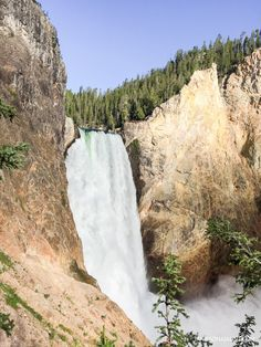 Lower Falls, Yellowstone National Park.  More on jannaonajaunt.com