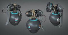 Projektowanie modeli do gier - design w grach - Hard Surface - CG Wisdom Hidden Weapons, Sci Fi Weapons, Weapon Concept Art, Fantasy Weapons, Ninja Sword, Future Weapons, Game Props, Sci Fi Armor, Prop Design