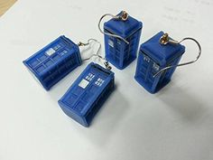 Dr Who Tardis Earrings - 3D - Costume Accessory - http://bandshirts.org/product/dr-who-tardis-earrings-3d-costume-accessory/