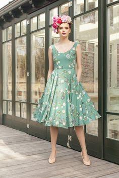 1a5c3d7800 Sukienka midi Secret Garden - Sukienki koktajlowe - Sukienki - Stworzone z  miłością w Sanok