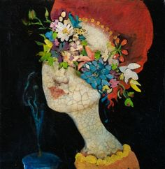 Cassandra Barney was born and raised in Orem, Utah. She received her Master's degree in Fine Arts from Brigham Young University in . Petunias, Paperclay, Portrait Art, Portraits, Flower Images, Woman Painting, Art Forms, Diy Art, Female Art