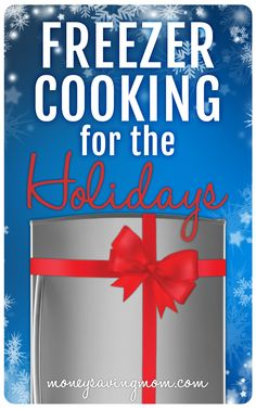 Delicious food is one of the best things about Christmas! But who wants to slave away in the kitchen all day on Christmas Eve or Christmas Day? Here are a some ideas of things you can make ahead of time and freeze to make your Christmas meal preparations smoother and leave you more time to just savor the season.