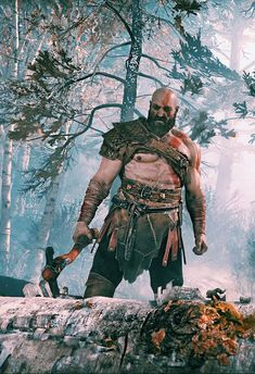 Kratos, God of War Character Concept, Character Design, Kratos God Of War, Norse Mythology, Fantasy Warrior, Fantasy Creatures, Game Art, Video Game, Anime
