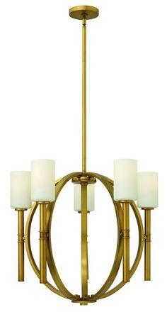 Hinkley Lighting 3585 Margeaux 5 Light 1 Tier Chandelier Vintage Brass Indoor Lighting Chandeliers