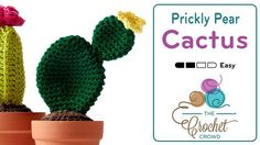 Crochet Prickly Pear Cactus Flower Pot The prickly look without the worry of being stung by a Cactus! Introducing this