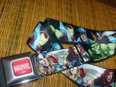 MARVEL COMIC HULK IRONMAN CAPTAIN AMERICA BUCKLE DOWN SEATBELT BELT OSFM  #BUCKLEDOWN #SEATBELT
