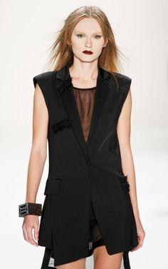 Deconstructed Blazer by Irina Schrotter AW 2013 #MBFWB
