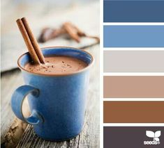 Color Scheme - love these colors! Oh, and I want that coffee cup, too! LOL - Design seeds                                                                                                                                                                                 More