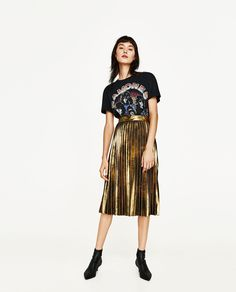 PLEATED MIDI SKIRT-SKIRTS-WOMAN | ZARA United States
