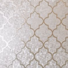 Add glamour to your room with this luxurious geometric champagne foil wallpaper. The crushed velvet effect of the background contrasts with the trellis pattern that is enhanced with a smooth textured finish. A fabulous feature wall option in a living room, dining room or bedroom, yo #wallpaperdepot #wallpaper #cushions #interiordecor #interior #interiordesign #home #homedecor #bedroom #livingroom #renovation #diy #newhome #geometric #metallic #crushedvelvet #velvet #shimmer #trellis Geometric Decor, Trellis Pattern, Interior Decorating, Interior Design, Crushed Velvet, Home Art, Champagne, Metallic