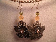 Earrings 100 Antique Flowers by AllMyEarrings on Etsy