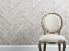 Herringbone Wood Wallpaper | Arhaus Furniture