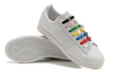 Adidas Adicolor GS - Chaussure Adidar Pas Cher Pour Femme/Enfant Blanc