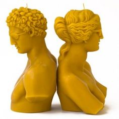 Hermaphrodite Candles    Hermes and Aphrodite have a new attitude! Get theseupdated classics, by Athens-based design duoGreece Is For Lovers, and add some Greek sass to your home. Candles are sculpted out of 100% natural beeswax. Packaged and sold individually.  #candles #hermafrodite #hermes #afrodite #greeceisforlovers
