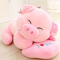 Porquinho love de pelucia com molde para imprimir Cute Baby Pigs, Cute Piggies, Kawaii Plush, Cute Plush, Cute Stuffed Animals, Cute Baby Animals, Pig Wallpaper, Kawaii Room, Cute Room Decor