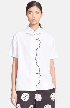 VIVETTA+'Mirante'+Short+Sleeve+Poplin+Shirt+available+at+#Nordstrom