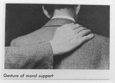 gesture of moral support