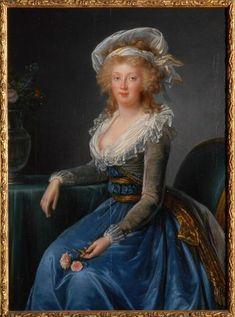 Marie-Thérèse, princesse des Deux-Siciles, impératrice d'Allemagne      Elisabeth Louise Vigée Lebrun, après 1790, Chantilly, Musée Condé