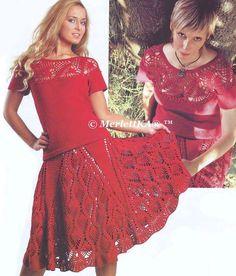 Комплект ( блуза и юбка ) - вязание крючком. Обсуждение на LiveInternet - Российский Сервис Онлайн-Дневников