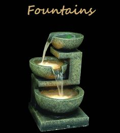 LED Lit Home & Garden Fountains