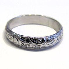 Sterling Silver Wedding Ring Vine Pattern by Jewelry24Seven