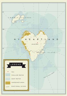 'My Heartland' map by Soetwaer #HappyValentinesWeek