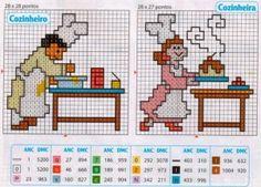 grafico cozinheiro cozinheira