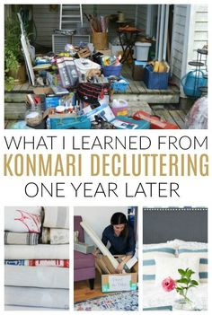 KonMari Revisited: One Year after our Journey to Sparking Joy Learn what life is like after one year decluttering and organizing the home with the KonMari method. The truth about the challenges with keeping things clean and the mindset shift it started. Declutter Your Home, Organizing Your Home, Organising, Organizing Ideas, Decluttering Ideas, D House, Tidy Up, Life Organization, What Is Life About