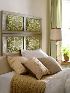 45 Cool Headboard Ideas To Improve Your Bedroom Design. This one is simple but I like it.