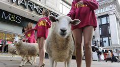 Usate la #lana: #pecore e modelle in giro a Londra